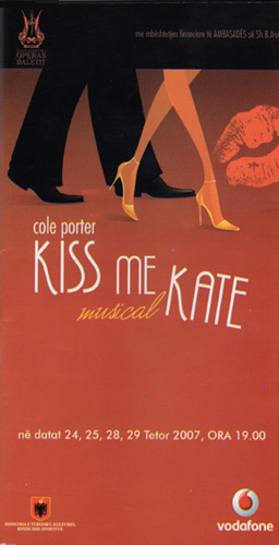 Kiss Me Kate Playbill