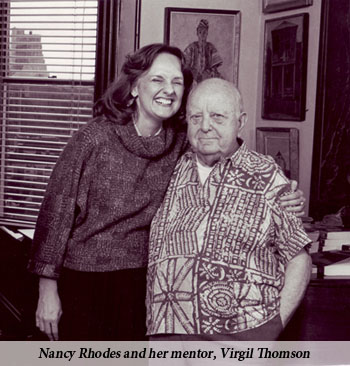Nancy Rhodes and Virgil Thomson